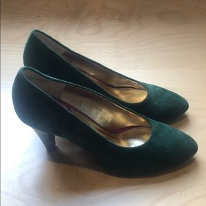 Seychelles Anthro Green Suede Leather shoes